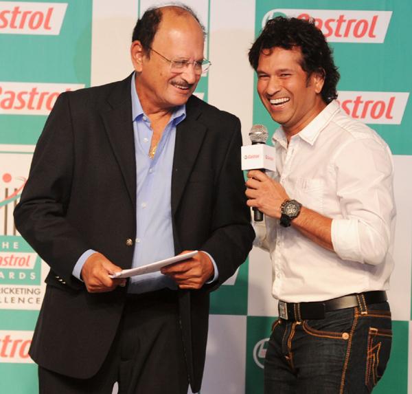 Sachin Tendulkar with Ajit Wadekar