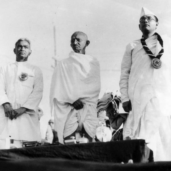 1st-March-1938-Members-of-the-Indian-National-Congress-on-the-dais-at-Haripura-From-left-to-right-Darbar-Gopoldas-Dasai-Mahatma-Gandhi-Mohandas-Karamchand-Gandhi-and-Subhas-Chandra-Bose-