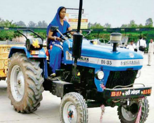 Suman Rani, the tractor girl