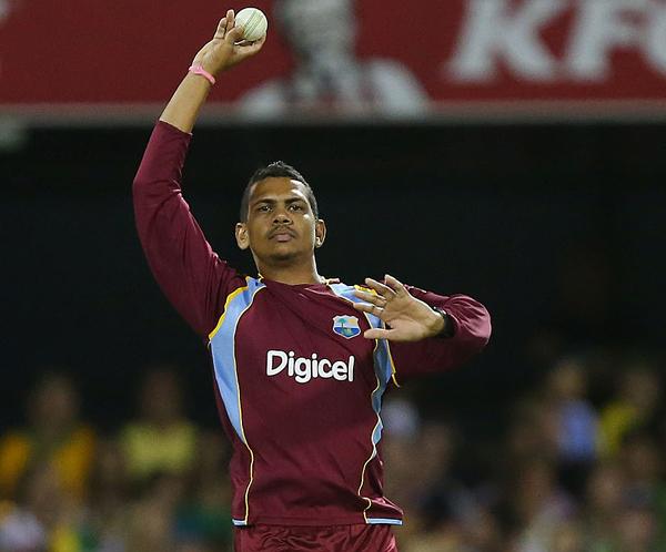 Sunil Narine bowling