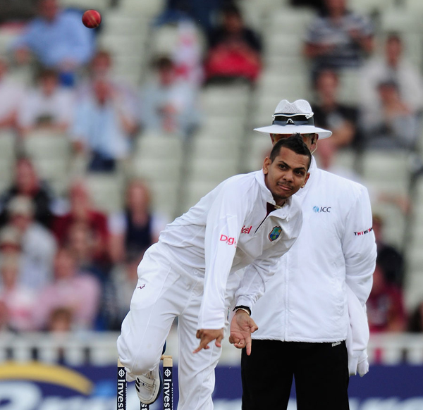 Sunil Narine bowling in Tests