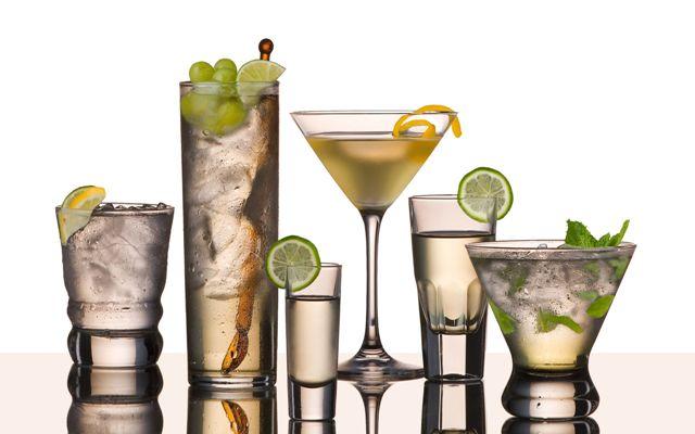 Vodka drinks glass