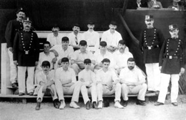 The victorious Great Britain team in 1900 years