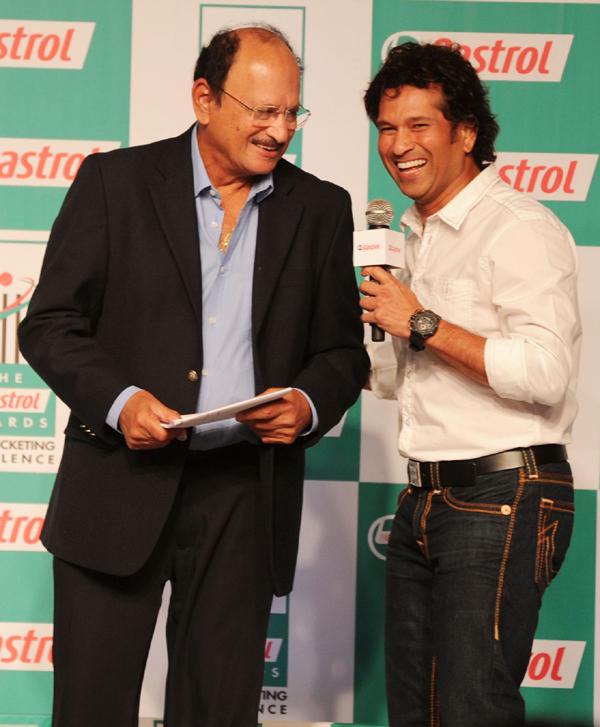 Ajit Wadekar with Sachin