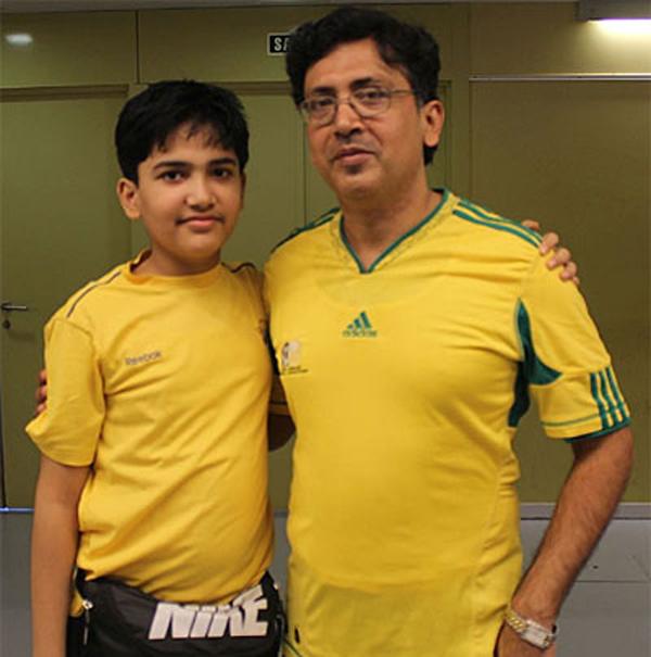 Aryan Chopra with father Rajeev