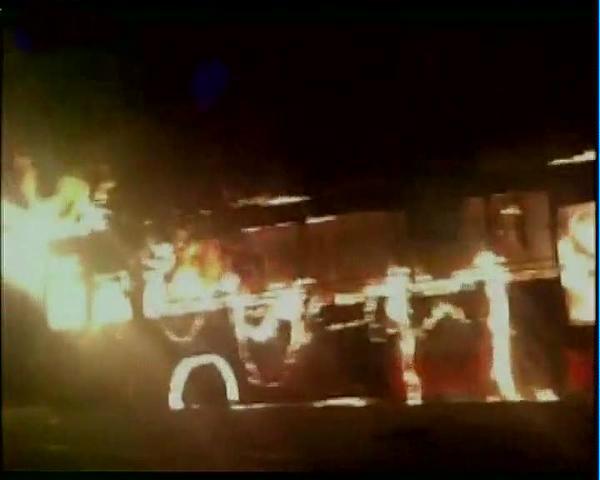 Buses burnt
