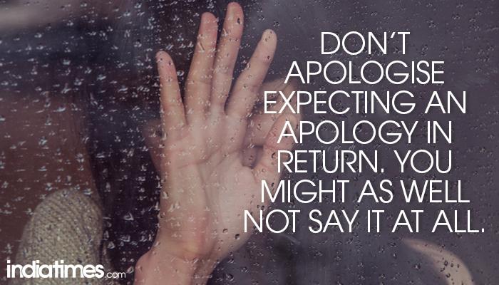 Don't apologise