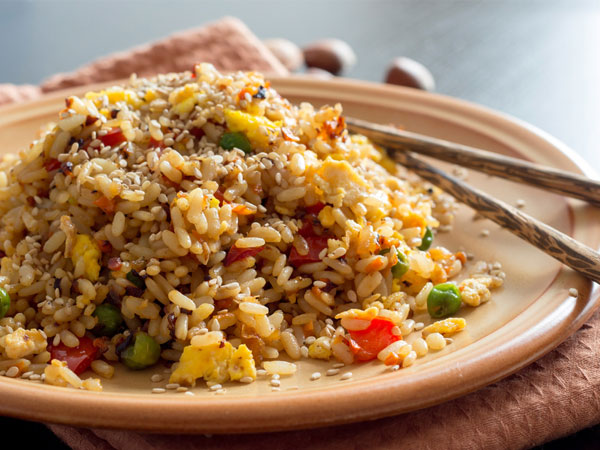 4.Brown rice Brown rice is a ready source of carbohydrates, packed with a healthy source of fibre