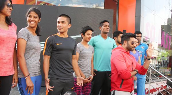 Sunil Chhetri in a promotional event