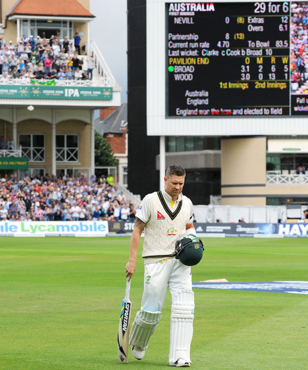 Michael Clarke out