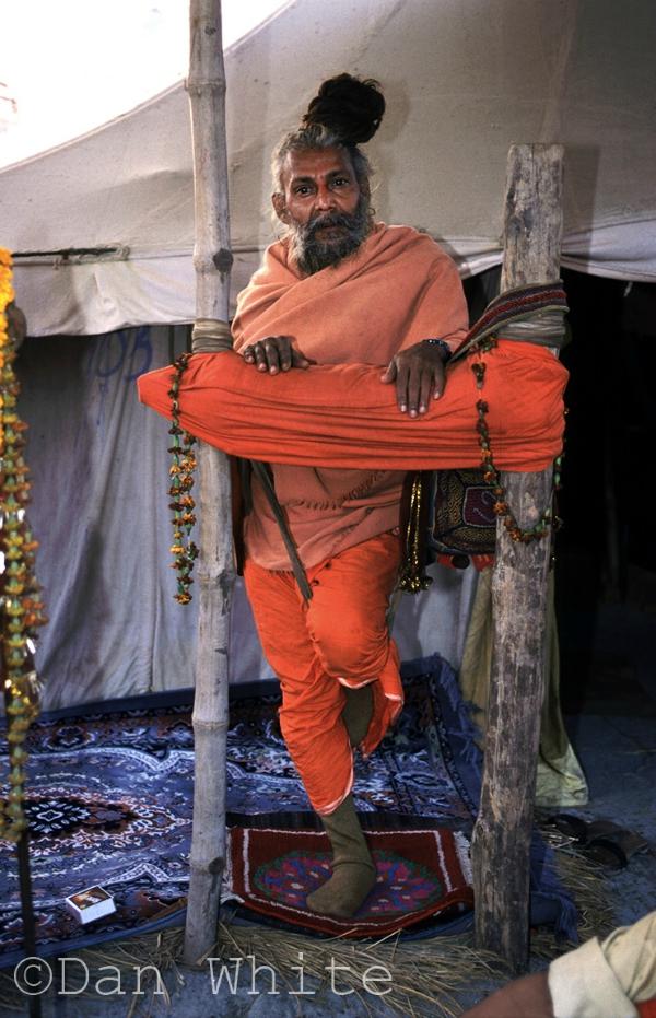 standing sadhu