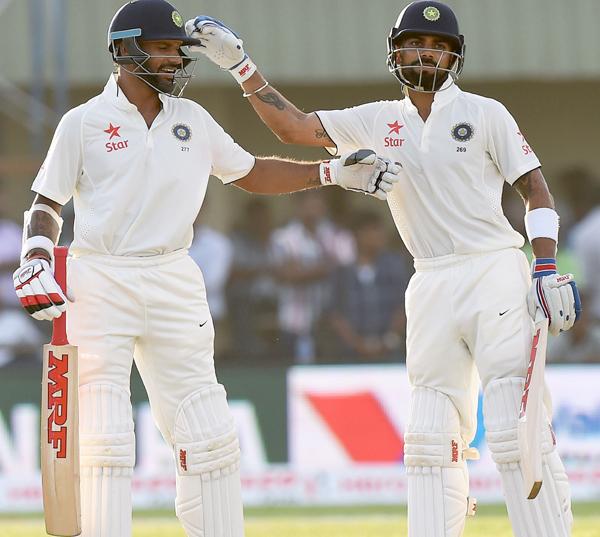 Shikhar Dhawan with Virat Kohli