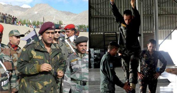 Dhoni army training