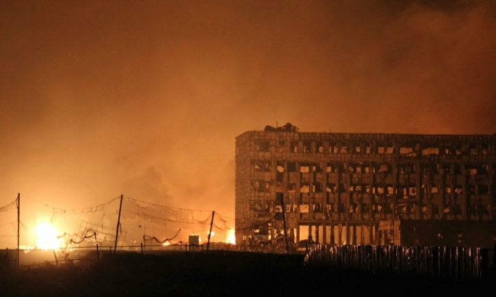 explosions in Tianjin, china