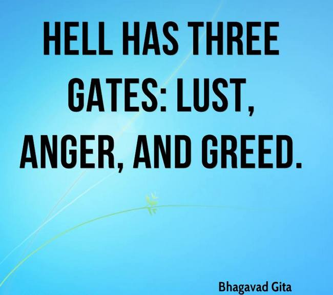 Bhagavad Gita Quotes on Vices That Gates To Hell
