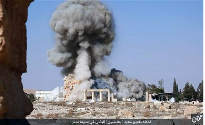 ISIS blows up Palmyra