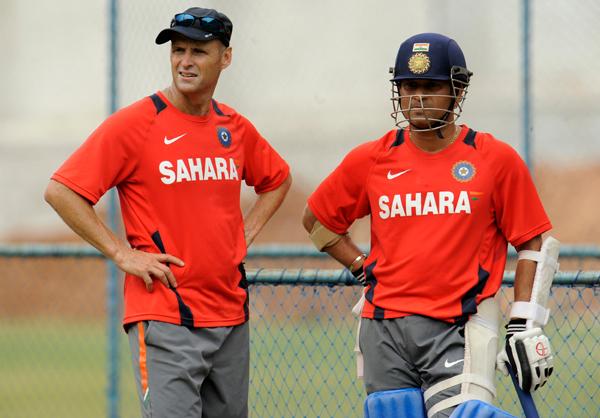 Gary Kirsten with Sachin Tendulkar