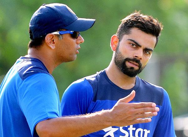 Virat Kohli with Rahul Dravid
