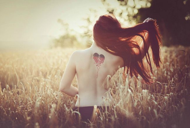 heart shaped tattoo