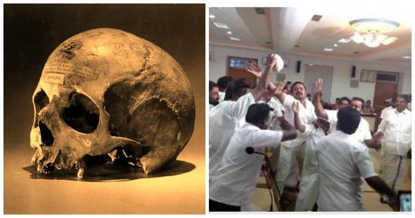 skull protest tamil naud