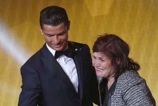 Ronaldo with mother