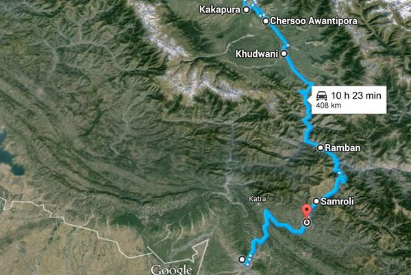 route of the attack Udhampur