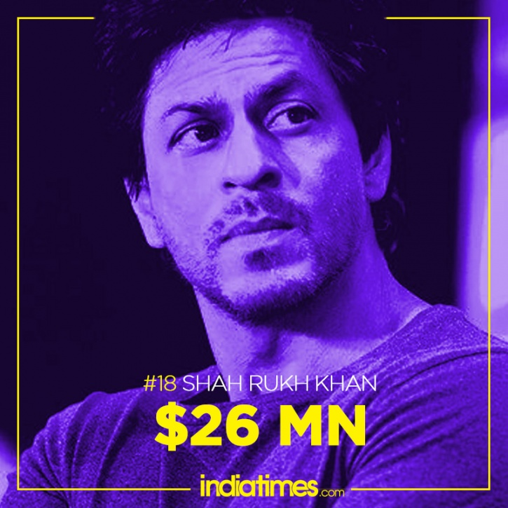 SRK, Forbes World's Highest Paid Actors 2015