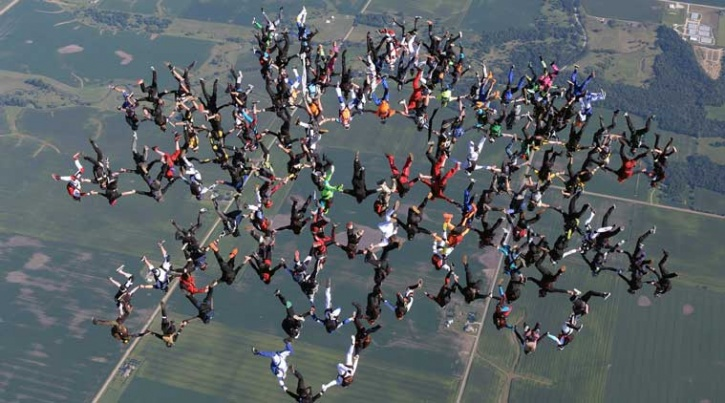 World Record Skydiving