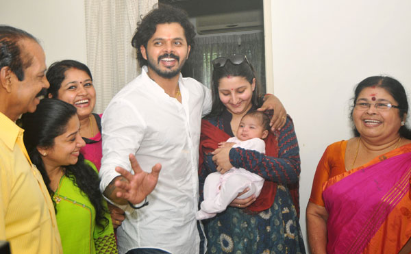 Sreesanth with family