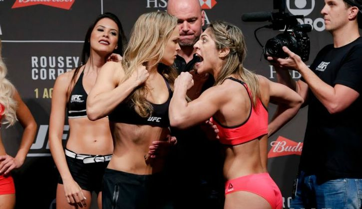 Ronda vs bethe at weigh-in