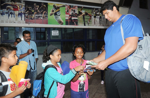 Vikas Gowda with kids (file pic)