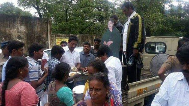Amma Stickers Forcefully Put On Relief Materials For Chennai Flood  Victims