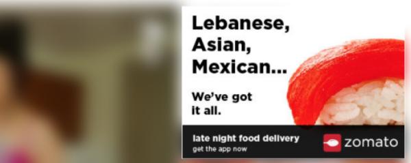 food porn ads zomato