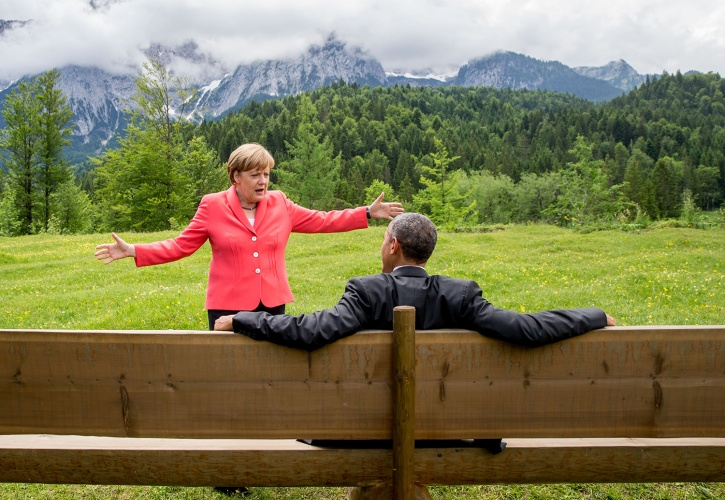 Angela Merkel and Obama