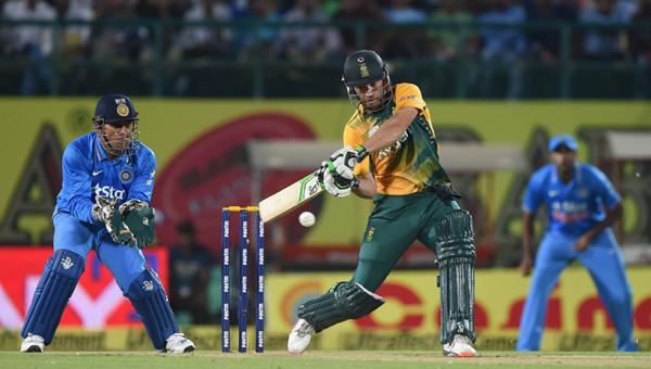 AB de Villiers hammering Indian bowlers