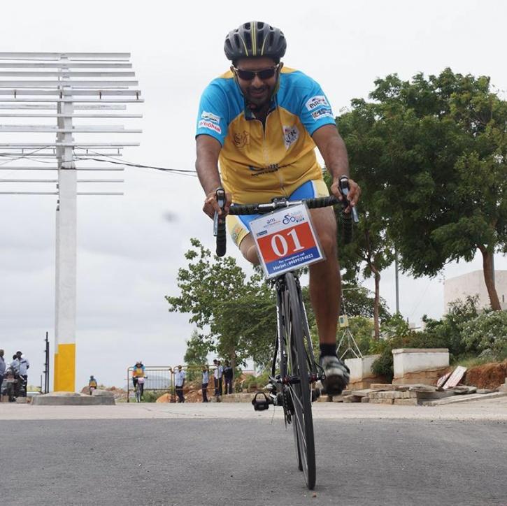 Aditya Mehta para-cyclist