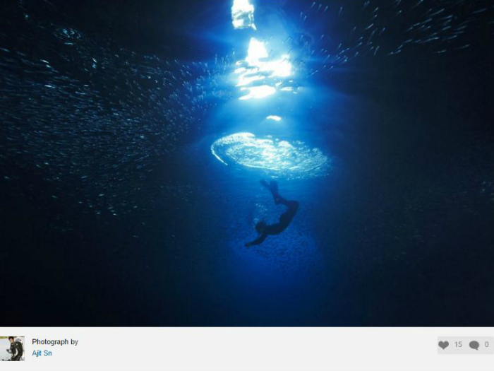 A photograph by Ajith showcased on National Geographic website