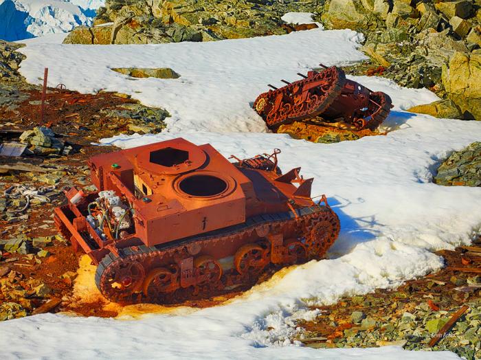 Abandoned tanks