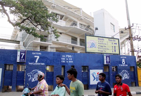 Ticket counters at the MA Chidambaram Stadium