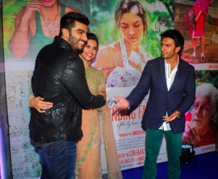 Ranveer, Deepika and Arjun