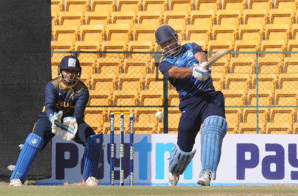 Dhoni playing vs Delhi in Vijay Hazare Trophy