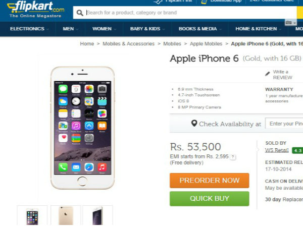 Duo Order iPhone 6 From Flipkart And Try To Dupe The Company For Rs 50,000, Get Arrested