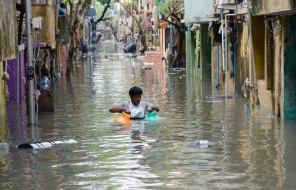 chennai floods walking through