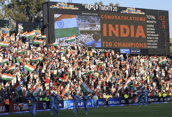 India won the inaugural T20 World Cup in 2007 in South Africa