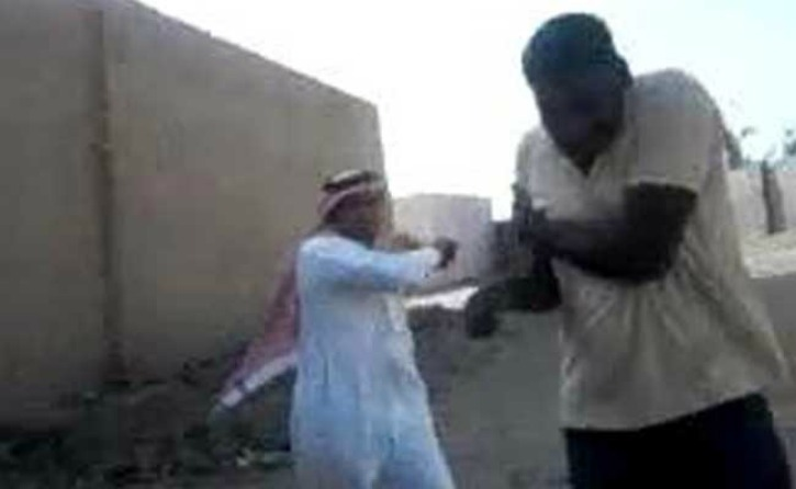 Saudi Employer Caught On Camera Brutally Attacking Three Indian Youth