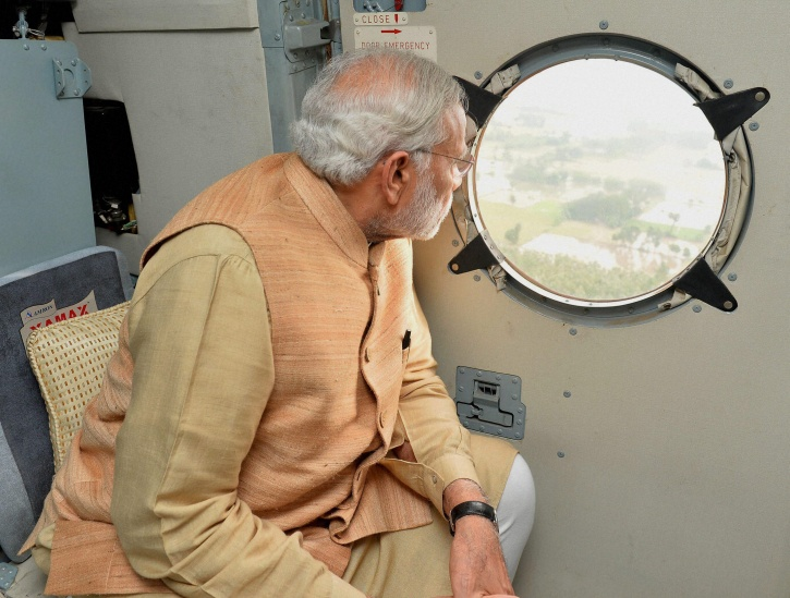 Narendra Modi Visits Flood Ravaged Chennai