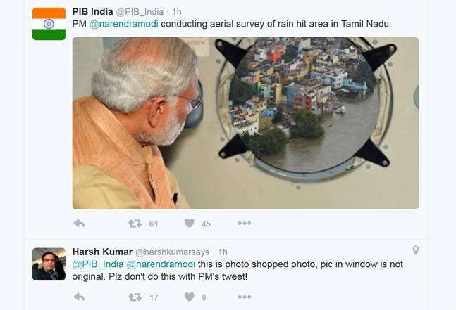 Modi Visits Flood Ravaged Chennai