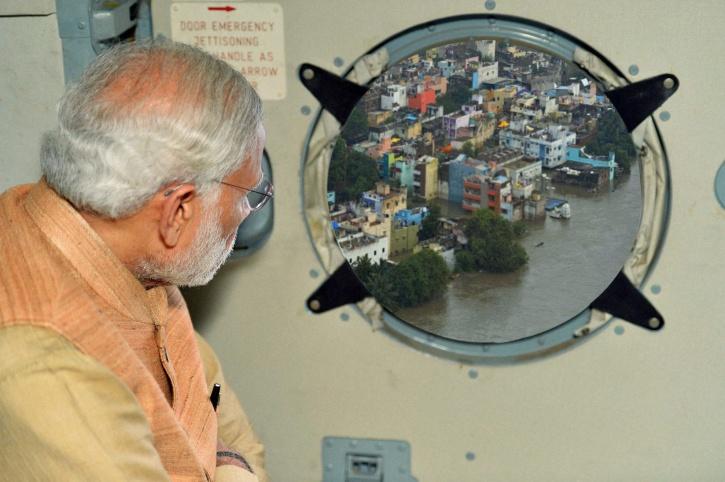 Modi Visits Flood Affected Chennai