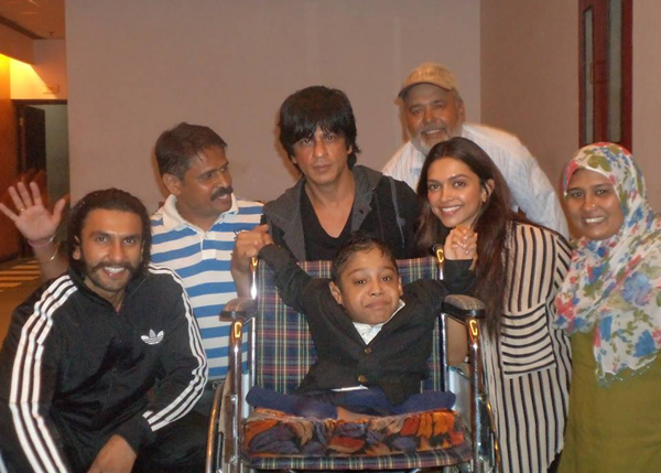 Moin with Bollywood celebrities SRK, Deepika and Ranveer