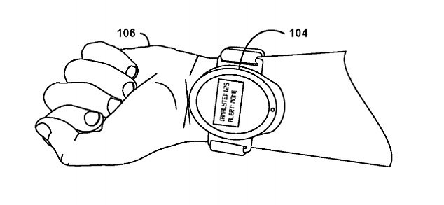 Google patent for smartwatch to draw blood